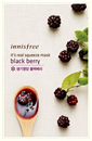 Innisfree It's Real Squeeze Mask Black Berry