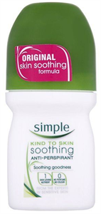 Simple Kind To Skin Soothing Roll On Deodorant