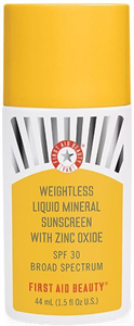 First Aid Beauty Weightless Liquid Mineral Sunscreen With Zinc Oxide SPF30