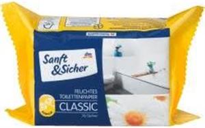 Sanft & Sicher Classic Nedves Toalettpapír Kamilla