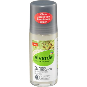 Alverde Bio-Hamamelis Bio-Reis 3In1 Deo Roll-On