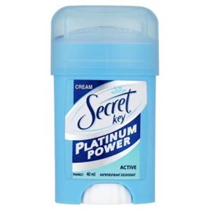 Secret Key Platinum Power Active Női Izzadásgátló Krémdezodor