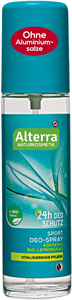Alterra Sport Pumpás Deo Spray Citromfű & Koffein