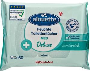 alouette Deluxe Nedves Toalettpapír - Med