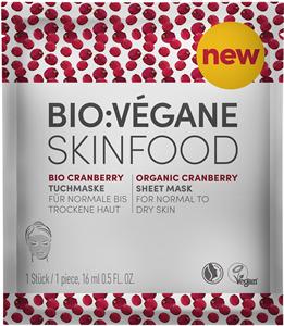 Bio:Végane Skinfood Organic Cranberry Sheet Mask