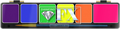 Grimas Diamond Fx Neon 6 Színes Mini Paletta