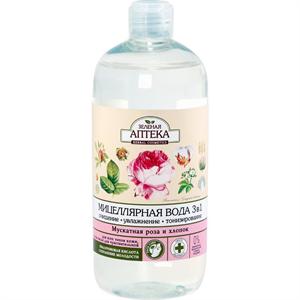 Green Pharmacy 3 az 1-ben Micelláris Víz Vadrózsával és Gyapottal