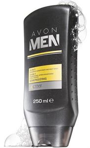 Avon Men Energising 3 az 1-ben Sampon, Balzsam és Tusfürdő
