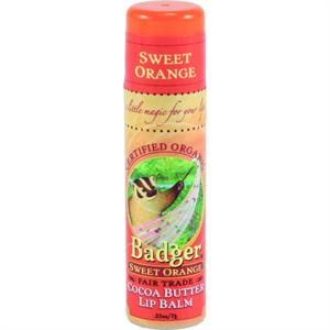 Badger Balm Cocoa Butter Lip Balm Sweet Orange