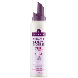 aussie Miracle Styling Mousse Curl Define+Shine Hajhab
