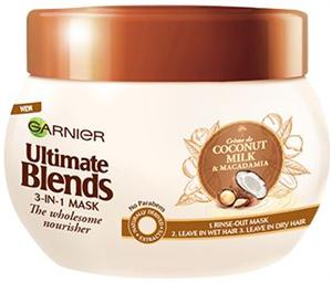 Garnier Ultimate Blends Coconut Milk & Macadamia 3-in-1 Maszk