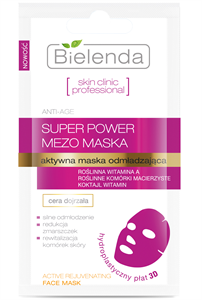 Bielenda Skin Clinic Professional Aktív Bőrfiatalító Hidroplasztikus Anatómiai Arcmaszk