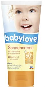 Babylove Napozókrém SPF50