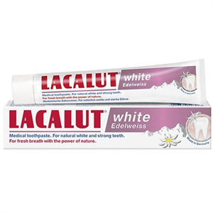 Lacalut White Edelweiss Fehérítő Hatású Fogkrém Havasi Gyopár Kivonattal
