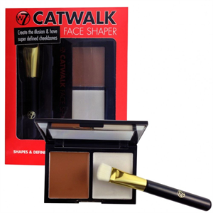 W7 Trends Catwalk Face Shaper Kontúrozó és Highlighter Paletta