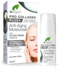 dr. Organic Pro Collagen Plus+ Anti-Aging Hidratáló Arckrém Fekete Gyönggyel