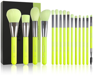 Docolor Neon 15 Pieces Synthetic Brush Set