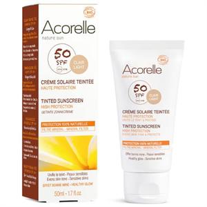 Acorelle Organic Tinted  Sunscreen SPF50