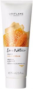 Oriflame Love Nature Cold Cream Kézkrém Tápláló és Bőrvédő Méhviasszal és Mandulaolajjal