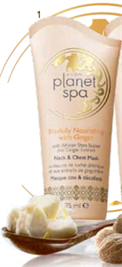 Avon Planet Spa Blissfully Nourishing With Ginger Nyak- és Dekoltázsápoló Pakolás