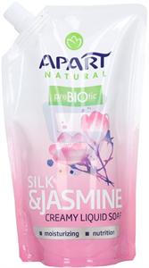 Apart Natural Prebiotic Silk & Jasmine Krémes Folyékony Szappan Utántöltő