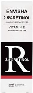 Envisha 2.5% Retinol Szérum E Vitaminnal, Hialuronsavval és Aloe Verával
