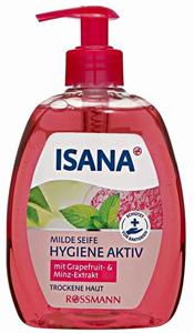 Isana Hygiene Aktiv Folyékony Szappan Grapefruit és Menta Kivonattal