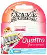 Wilkinson Sword Quattro Női Borotva Papaya & Pearl