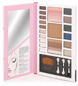 Beauty UK Blush & Glow Make Up Palette Szemhéjpúder és Arcpaletta