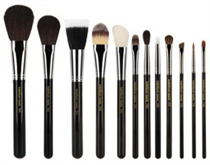 Bdellium Tools Maestro Complete 12Pc. Brush Set With Roll-Up Pouch