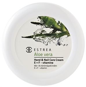 Estrea Aloe Vera Kéz- és Körömápoló Krém E + F Vitamin