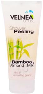 Velnea Bambusz és Mandulatej Zuhanyzás Közbeni Bőrradír
