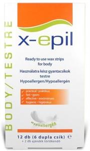 X-Epil Használatra Kész Gyanacsík Testre Hypoallergén