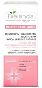 Bielenda Pharm Dilated Capillaries Regeneráló, Érfal Erősítő, Anti-Ageing Hatású Éjszakai Arckrém