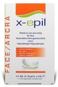 X-Epil Használatra Kész Gyantázócsík Arcra Hypoallergén