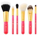 BH Cosmetics Neon Pink 6 Piece Brush Set