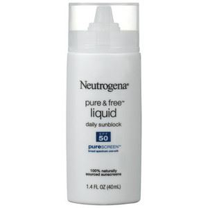 Neutrogena Pure & Free™ Liquid Sunscreen Broad Spectrum SPF50