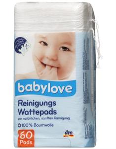 Babylove Tisztító Vattalapok 100% Pamutból