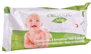 Organyc 100% Organikus Nedves Törlőkendő