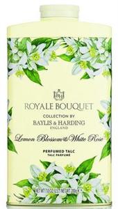 Baylis & Harding Royal Bouquet Perfumed Talc, Lemon Blossom and White Rose