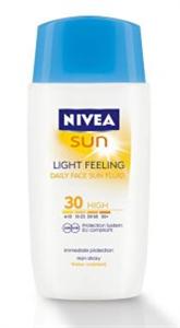 Nivea Sun Light Feeling Napvédő Arckrém SPF 30
