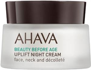 Ahava Uplift Night Cream Face Neck And Décolleté Éjszakai Krém Arcra, Nyakra, Dekoltázsra