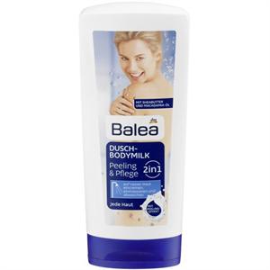 Balea 2in1 Dusch-Bodymilk Peeling & Pflege
