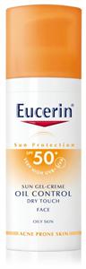 Eucerin Sun Oil Control Napozó Krém-Gél Arcra SPF50+