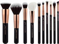 Jessup 10 pcs Brush Set Black/Rose Gold