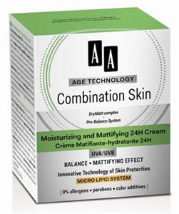 AA Age Technology Combination Skin Mattító és Hidratáló 24H Arckrém UVA/UVB