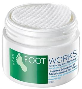 Avon Foot Works Hámlasztó Lábápoló Párnák Glikolsavval
