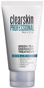 Avon Clearskin Professional Zöld Teás Éjszakai Arcápoló Problémás Bőrre