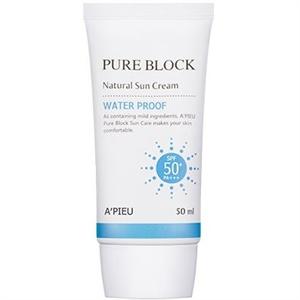 A'PIEU Pure Block Natural Sun Cream Waterproof SPF50+ / PA+++