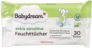 Babydream Extra Sensitive Nedves Törlőkendő